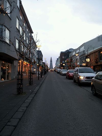 In the centre of Reykjavik